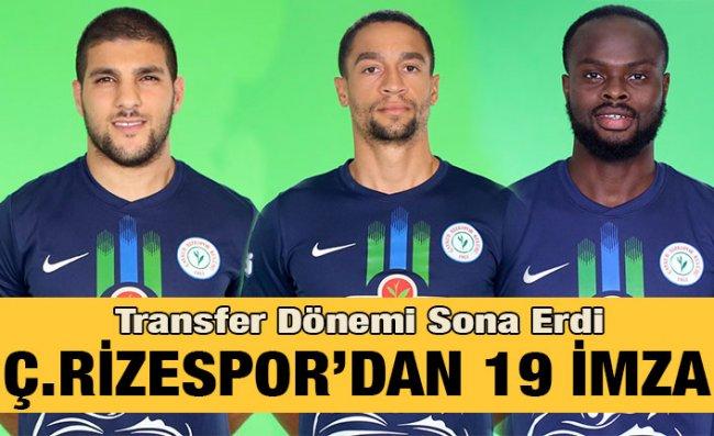 Çaykur Rizespor 2019/2020 Sezonu Transferleri