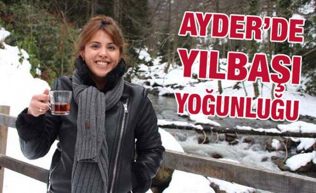 Ayder Yaylası Yılbaşında Tatilcilerle Doldu