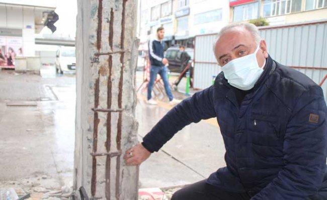 Rize'de Binaların Taşıyıcı Kolonlarını Kaldırmışlar