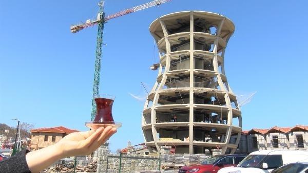 Dünyanın en büyük çay bardağı Rize'de yükseliyor