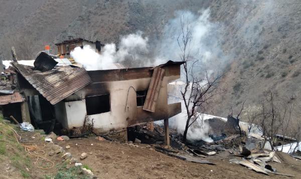 Artvin'de 12 ev yandı; yangının boyutu gün ağarınca ortaya çıktı