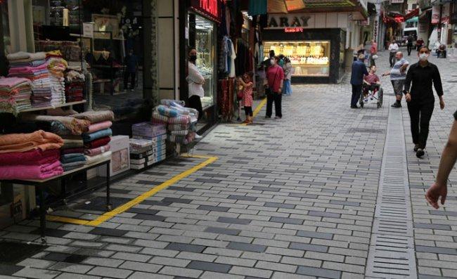 Rize Belediyesi, Kaldırım İşgaline 'Sarı Çizgi' Çekti